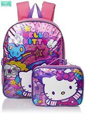 Backpack Hello Kitty Girl Kids Toddler Book Bag School Shoulder Lunch Kit Box