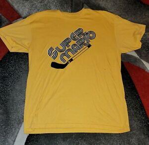 Vintage Mario Lemieux Super Mario Tshirt XL Pittsburg Penguins Hockey