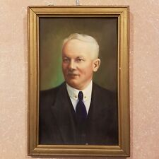 Altes Ölgemälde Gemälde Portrait Öl auf Holz