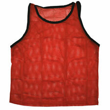 Scrimmage Training Vests Soccer Bibs Set of 6 Soccer YOUTH Size - RED color
