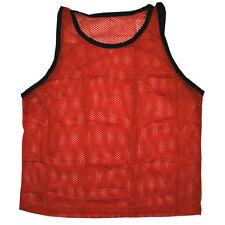 Scrimmage Training Vests Soccer Bibs Set of 6 Soccer MENS Size - RED color