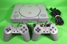Sony PlayStation PS1 PSX Gray Console Two Controllers (SCPH-5501)