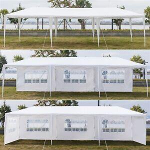 3x9m Heavy Duty Canopy Tent Garden Wedding Waterproof Gazebo Marquee w/5 Sides