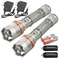 Police Tactical 990000LM T6 LED 5Modes Rechargeable Flashlight Torch Zoomable US