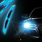 4x Car Door Anti-collision Strip Reflective Stickers Carbon Fiber Pattern Parts.