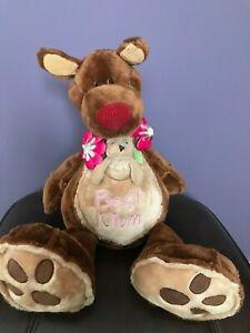 "Mother Kangaroo ""Best Mum"" with Baby Stuffed Animals Soft Toys"