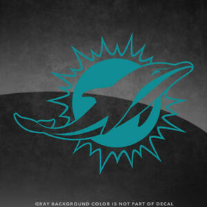 """Miami Dolphins NFL Vinyl Decal Sticker - 4"""" and Larger - 30+ Color Options!"""