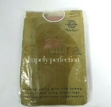 Silkies Ultra Shapely Perfection Queen Panty Hose Color Nude Natural
