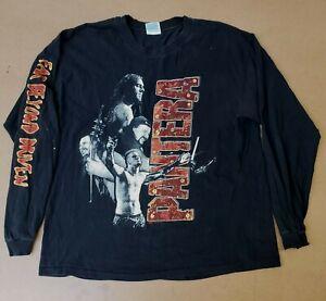 Vintage Pantera Long Sleeve Band Shirt Hanes XL Far Beyond Civilization Tour