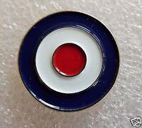 MOD blue, red & white Roundel motorcycle metal enamel pin lapel badge mods