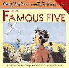 FIVE GO OFF TO CAMP & FIVE GO TO BILLCOCK HILL- Enid Blyton (CD-Audio 2008) NEW