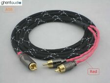 A08 (1m 3ft) --- RCA/Phono(male) to Dual(2) RCA(male) Y Cable Canare L-4E6S