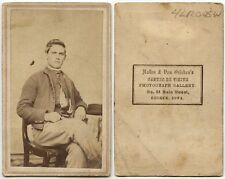 CIVIL WAR ERA YOUNG MAN BY VAN GRIEKEN, KEOKUK, IOWA, ANTIQUE CDV