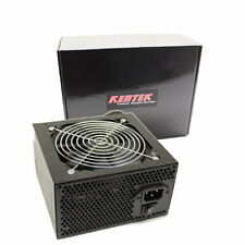 KENTEK 650 Watt 120mm Fan ATX 600W 650W Black SATA PCIE Power Supply Quiet