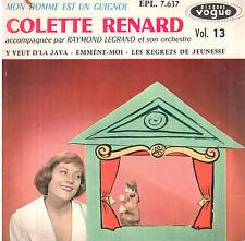 45T EP: Colette Renard: mon homme est un guignol + 3 titres. vogue