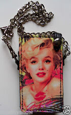 New Marilyn Monroe iPod Mini Case with Chain and Heart Charm Sexy Mp3 Player