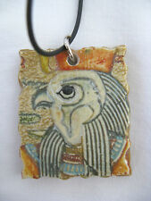 """Egyptian Resin Antique Looking Necklace with Choker Horus Design 18.5"""""""
