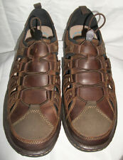 Hush Puppies Mens Size 13 M Belfast Fisherman Brown Leather Sandals Shoes NWOB