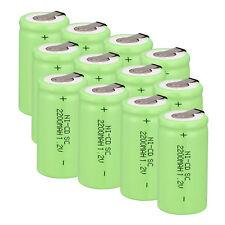 Grün 1,2V 2200mAh SC Sub C Ni-Cd Wiederaufladbare Batterie x 12