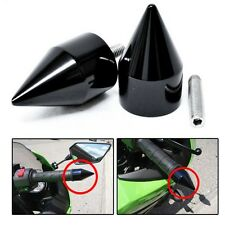 Spike Bar Ends for Kawasaki Ninja 250 500 ZX600 ZX6 636 ZZR600 ZX6R ZX6RR Black