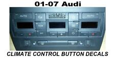 AUDI A4 S4 B6 CLIMATE CONTROL BUTTON RESTORATION DECALS