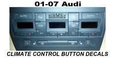 AUDI A4 S4 B6 CLIMATE CONTROL BUTTON RESTORATION DECALS