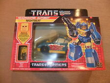 Transformers 1987 Generation 1 Headmaster Autobot Nightbeat+Muzzle Pilote MISB