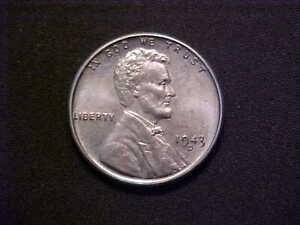 1943-D LINCOLN WHEAT STEEL CENT -VERY NICE CHOICE BU COLLECTOR COIN! -d5196txx