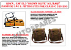 Royal Enfield Brown Olive Military Pannier Bag & Fitting Fit for Classic 350 500