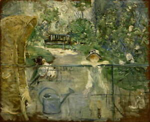 Berthe Morisot The Basket Chair Poster Reproduction Giclee Canvas Print