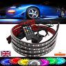 4pcs 90&120cm LED RGB Under Car Underglow Underbody System Neon Strip Lights Kit