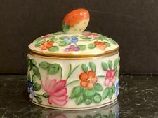 Herend 6203/C Lidded Trinket Box with Strawberry Top