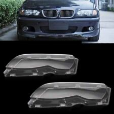 For BMW E46 3 Series 2002-2005 Polycarbonate Headlight Glass Lens Lamp Cover 2pc