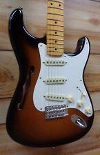 New Fender® Eric Johnson Thinline Stratocaster® 2-Color Sunburst w/Case