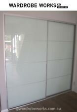 2 Opal Built-In Wardrobe Sliding Doors *Made to Measure*Up to 2400wide MODERN