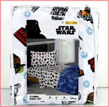 Disney STAR WARS FLANNEL Sheet Set - 100% Cotton Yoda Vader 3CPO - FULL ❤️NEW❤️