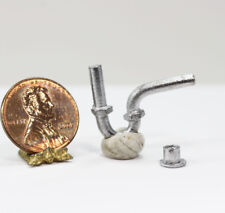 Dollhouse Miniature Realistic Under the Sink Plumbing Drain