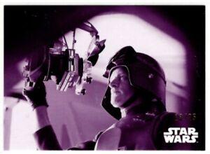 Star Wars ESB Black & White Purple Parallel card, #30 General Veers, 13/25