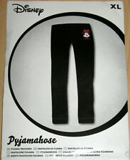 Pyjamahose Gr. XL Disney Minnie Maus Schlafanzug Hose Leggings Schwarz Damenmode