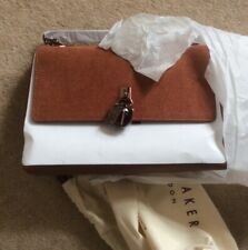 Ted Baker Leather And Suede Handbag Brown New In Packaging
