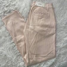 AG Adriano Goldschmied Womens Size 25 Light Pink Tailored Trousers The Caden NWT