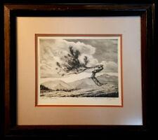 "Lyman Byxbe, ""Lone Pine"" (w/ Complete Landscape), Drypoint, 7 X 5 1/4, BID $1 NR"