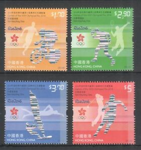 HONG KONG CHINA 2016 SUMMER OLYMPIC GAMES RIO COMP. SET OF 4 STAMPS IN MINT MNH