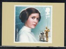 Great Britain Princess Leia Star Wars Royal Mail Stamp Card