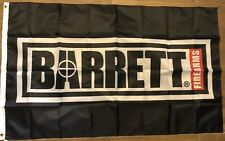 Barrett Firearms Flag 3x5 Banner Sniper Rifle Gun Show Hunting Sign Man Cave