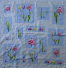 -Superbe foulard LAURA ASHLEY soie   TBEG vintage scarf 88 x 90 cm