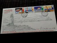 1985 ULLAPOOL COASTGUARD SERVICE 84 OF 100 ARTIST SIGNED GB FDC COVER bx5