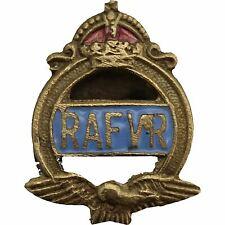 Original WW2 Royal Air Force RAF Volunteer Reserve RAFVR Lapel Badge - UD78