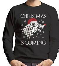 Christmas Is Coming Stark Direwolf Sigil Game Of Thrones Men's Sweatshirt {N12}