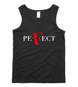 ROGER FEDERER VEST T shirt Tennis Sports GYM Exercise Fitness Workout Tank Top